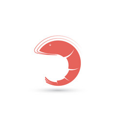 template of symbol with shrimp vector image