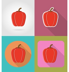 Vegetables flat icons 01 vector