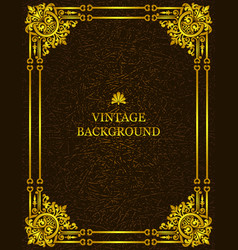vintage old background royal gold pattern frame vector image