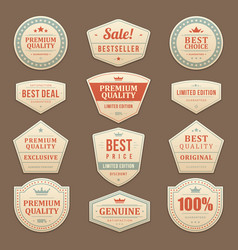 vintage sale advertising labels and vector image
