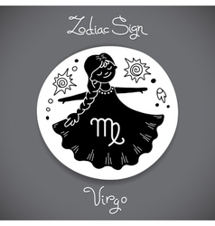 Virgo zodiac sign of horoscope circle emblem in vector image