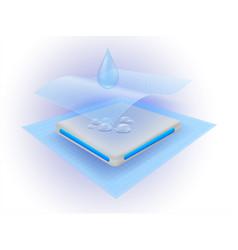 Water absorbent layer sheet vector