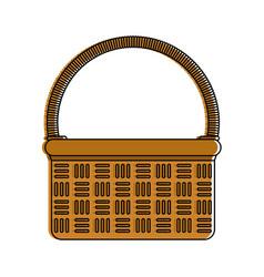 Wicker basket icon image vector