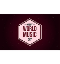 World music day style background collection vector