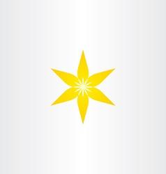 yellow flower gradient icon design vector image vector image
