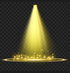 Yellow spotlight light effect vector