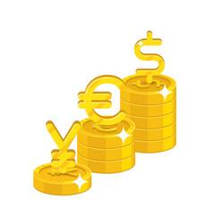 yen euro dollar signs vector image