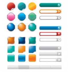 buttons for internet vector image vector image