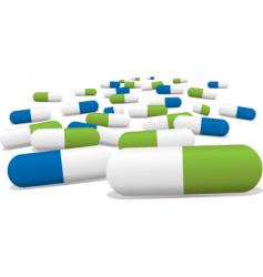 green pills vector image vector image