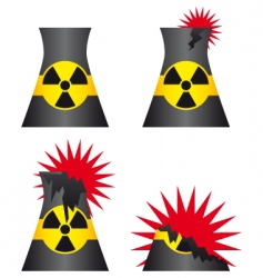 nuclear power plant meltdown vector image vector image