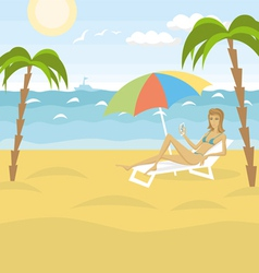 rest vector image vector image