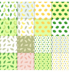 summer background set of simple colorful vector image vector image