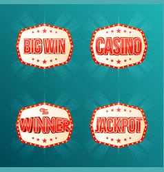 casino jackpot the winner big win banners vector image vector image