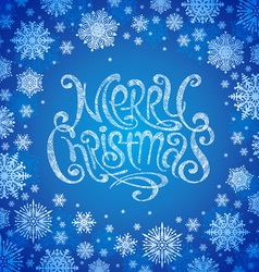 Christmas design with hand drawn greeting sign vector image