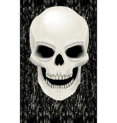 human skull zombie vector image