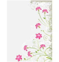 Grunge floral gray background vector image vector image
