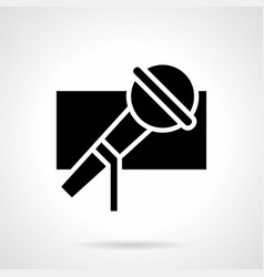music show glyph style icon vector image