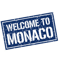 welcome to monaco stamp vector image vector image