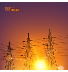 Electrical pylons vector image