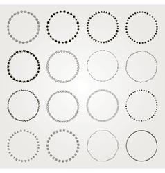 Hand Drawn Circle Logo and Badge Elements vector image