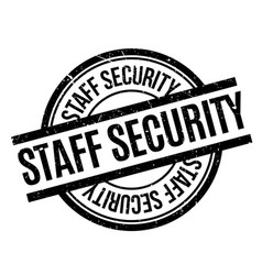 Staff security rubber stamp vector