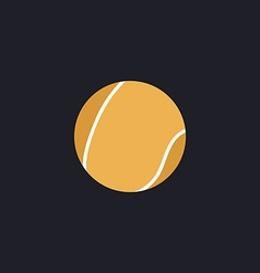 tennis ball computer symbol vector image