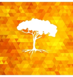 Tree silhouette summer vector image vector image