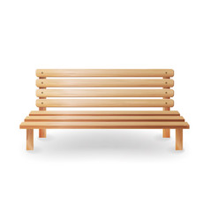 wooden bench realistic smooth vector image