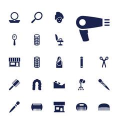 22 salon icons vector