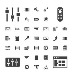 37 panel icons vector