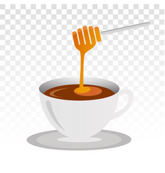 A cup honey drink icon for food apps vector