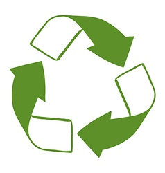 A green recycle sign vector image