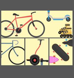 active city transport eco alternative energy bike vector image