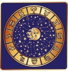All zodiac signmoonsunHoroscope circle vector