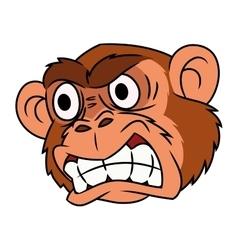 Angry monkey head 2 vector image