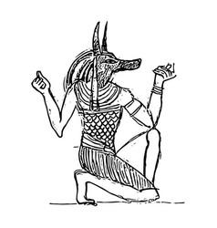Anubis in netherworld vector