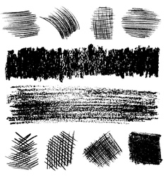 Artistic set of pencil hatching vector image
