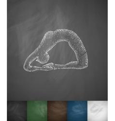 Asana icon Hand drawn vector