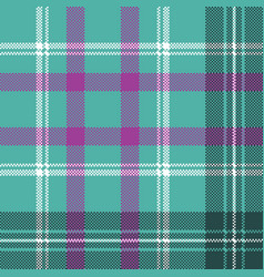 Blue tartan plaid seamless pattern vector