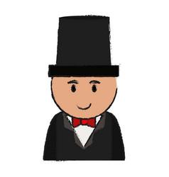 boy cartoon with suit design vector image
