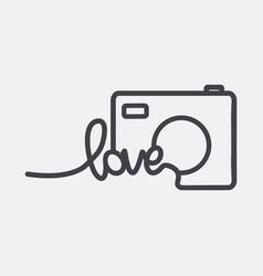 camera icon logo vector image