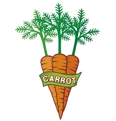 carrot label vector image