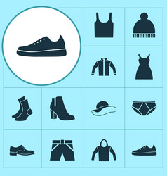 clothes icons set collection of elegance vector image