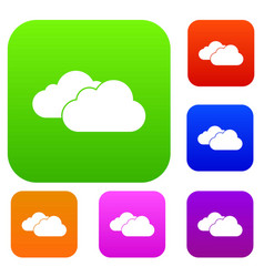 Clouds set collection vector