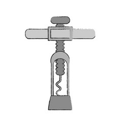 corkscrew for wine bottles vector image