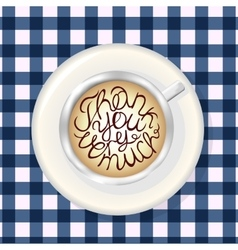 Cup of Coffee Mockup Template with Lettering vector image