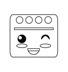 Cute book cartoon vector