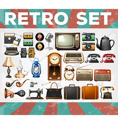 Different kind of retro objects vector image