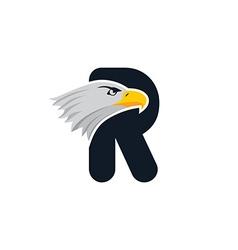 eagle head logotype vector image