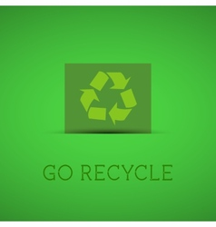 eco background recycle sign on a green card vector image
